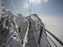 Skywalk στον παγετώνα βουνών Dachstein, Steiermark, Αυστρία Στοκ Εικόνα