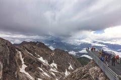 Skywalk στο βουνό Dachstein Αυστρία Hunerkogel Στοκ εικόνα με δικαίωμα ελεύθερης χρήσης