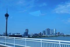 Skywalk башни Макао Стоковое фото RF