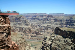 skywalk каньона грандиозное Стоковое фото RF
