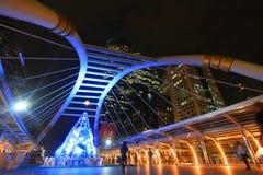 Skywalk на Бангкоке, Таиланде Стоковые Изображения
