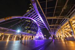 Skywalk на Бангкоке, Таиланде Стоковое Изображение RF