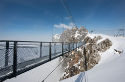 Skywalk на леднике горы Dachstein, Steiermark, Австрии Стоковое Фото