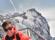 Skywalk на леднике горы Dachstein, Steiermark, Австрии Стоковое Изображение
