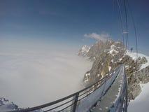 Skywalk на леднике горы Dachstein, Steiermark, Австрии Стоковые Фотографии RF