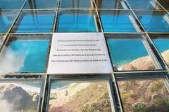 Skywalk на Cabo Girao, Мадейре Стоковая Фотография RF
