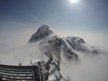 Skywalk al ghiacciaio della montagna di Dachstein, Steiermark, Austria Immagine Stock Libera da Diritti