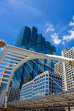 Skywalk in bangkok in business area Royalty Free Stock Image