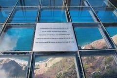Skywalk at Cabo Girao. Madeira. View down to the atlantic ocean Stock Photos