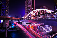 Skywalk Chong Nonsi на skytrain Бангкока стоковые фото
