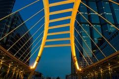 Skywalk courbe Images libres de droits
