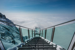 Skywalk at Dachstein mountain glacier, Steiermark, Austria Stock Photo