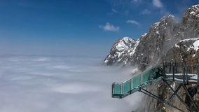 Stairway to nothingness-Skywalk at Dachstein mountain glacier, Steiermark, Austria Stock Images