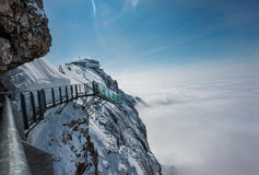 Skywalk at Dachstein mountain glacier, Steiermark, Austria Stock Image