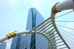 Skywalk dans le secteur d'activité, Bangkok, Thaïlande Photographie stock