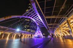 Skywalk en Bangkok, Tailandia Imagen de archivo libre de regalías