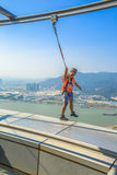 Skywalk Macau Tower Royalty Free Stock Images