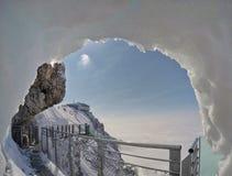 Skywalk na geleira da montanha de Dachstein, Steiermark, Áustria Imagem de Stock Royalty Free