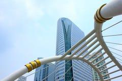 Skywalk op economische sector, Bangkok, Thailand Stock Fotografie