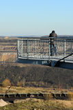 Skywalk at open cast mining Royalty Free Stock Photo