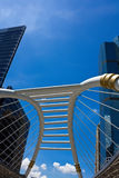 Skywalk público en Bangkok Foto de archivo libre de regalías