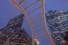 Skywalk Sathon de Chong Nonsi d'angle d'Uprisen - Naradhiwas intersectent Photos libres de droits
