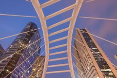 Skywalk Sathon de Chong Nonsi d'angle d'Uprisen - Naradhiwas intersectent images libres de droits