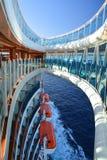 Skywalk sur le bateau de croisière Photos stock