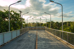 Skywalk to park Stock Images