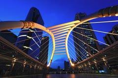 Skywalk van de binnenstad van Bangkok Stock Afbeeldingen