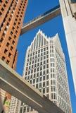 Skywalk-Verbindungsstück im Stadtzentrum gelegenes Detroit lizenzfreies stockfoto