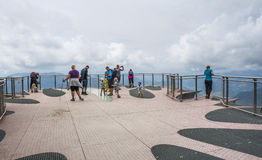 Skywalkplatform ` Koralle `, Tirol, Oostenrijk Royalty-vrije Stock Afbeelding