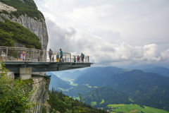 Skywalkplatform ` Koralle `, Tirol, Oostenrijk Stock Fotografie