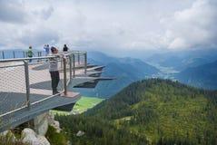 Skywalkplatform ` Koralle `, Tirol, Oostenrijk Royalty-vrije Stock Fotografie
