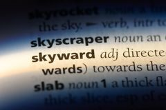 skyward imagens de stock