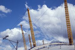 Skyward looking shot of the Millennium Dome in London Royalty Free Stock Image