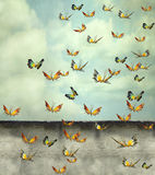 Skyward stock illustration