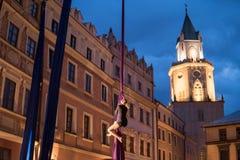 Skywards acrobatische dansen Stock Afbeeldingen