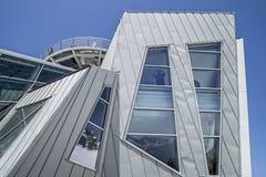 Skyway的蓬塔Helbronner, Monte Bianco终端,库尔马耶乌尔 免版税库存图片