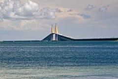 桥梁佛罗里达skyway坦帕 库存图片