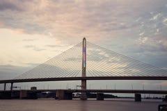 退伍军人的玻璃城市Skyway桥梁 免版税库存图片