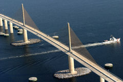 SkyWay Bridge. Aerial view of Sky Way bridge Royalty Free Stock Photos