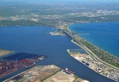Free Skyway Bridge, Hamilton Burlington Aerial Royalty Free Stock Photos - 89095648