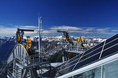 Skyway cableway at Mont Blanc, Alps, Italy. Stock Image