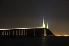 skyway Florida bridżowy światło słoneczne Obrazy Royalty Free