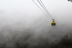 Skyway in the mist in the Blue Mountains of Australia Royalty Free Stock Photography
