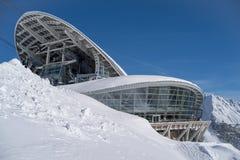 Skyway Monte Bianco, Courmayeur, Italië stock foto's