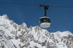 Skyway Monte Bianco, Courmayeur, Italy Stock Photo