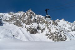 Skyway Monte Bianco, Courmayeur, Italy Royalty Free Stock Photography