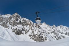 Skyway Monte Bianco, Courmayeur, Italy Stock Photography